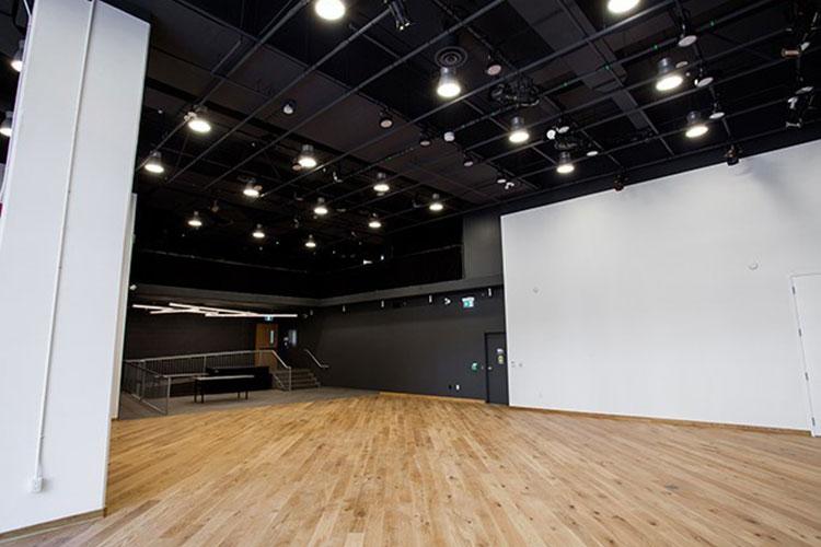 Large open floor plan at Artscape Sandbox