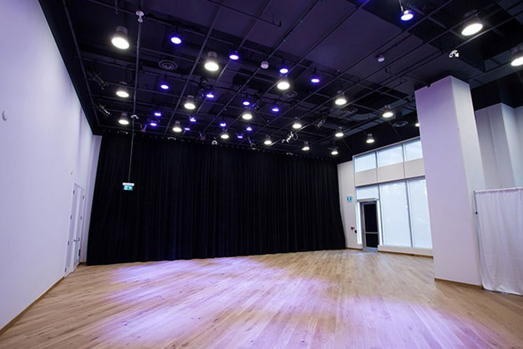 Large open space at Artscape Sandbox to rent for events