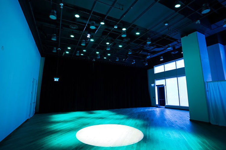 Open concept venue rental space at Artscape Sandbox in Toronto