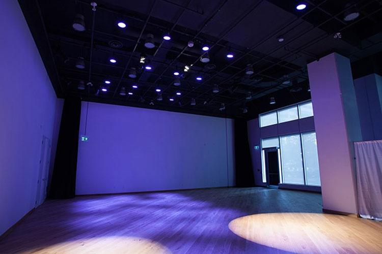 Artscape Sandbox open concept floor plan space for an event