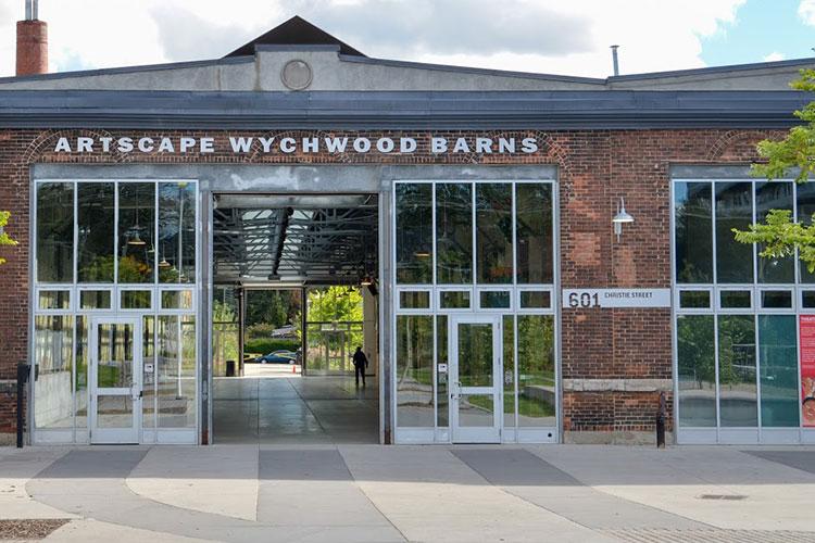 Artscape Wychwood Barns brick building exterior during sunny day
