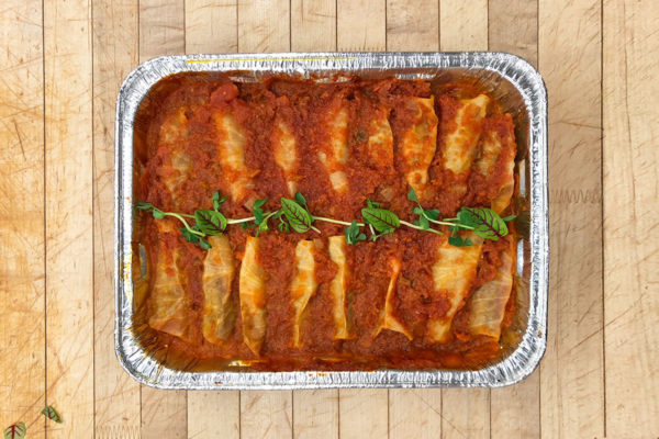 Cabbage rolls large potion in foil pan