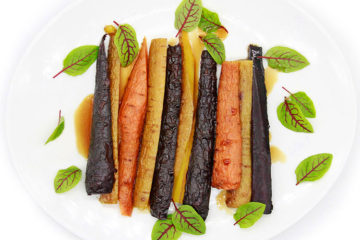 Heirloom carrots with micro greens from Buffet Menu