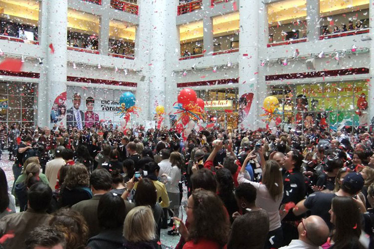 Party and celebration in the middle of CBC Atrium venue