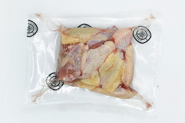 Chicken wings vacuum sealed and ready for delivery