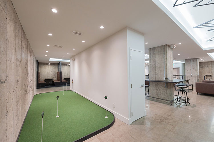 Mini putt and other interior space of IQ Venues The Vault