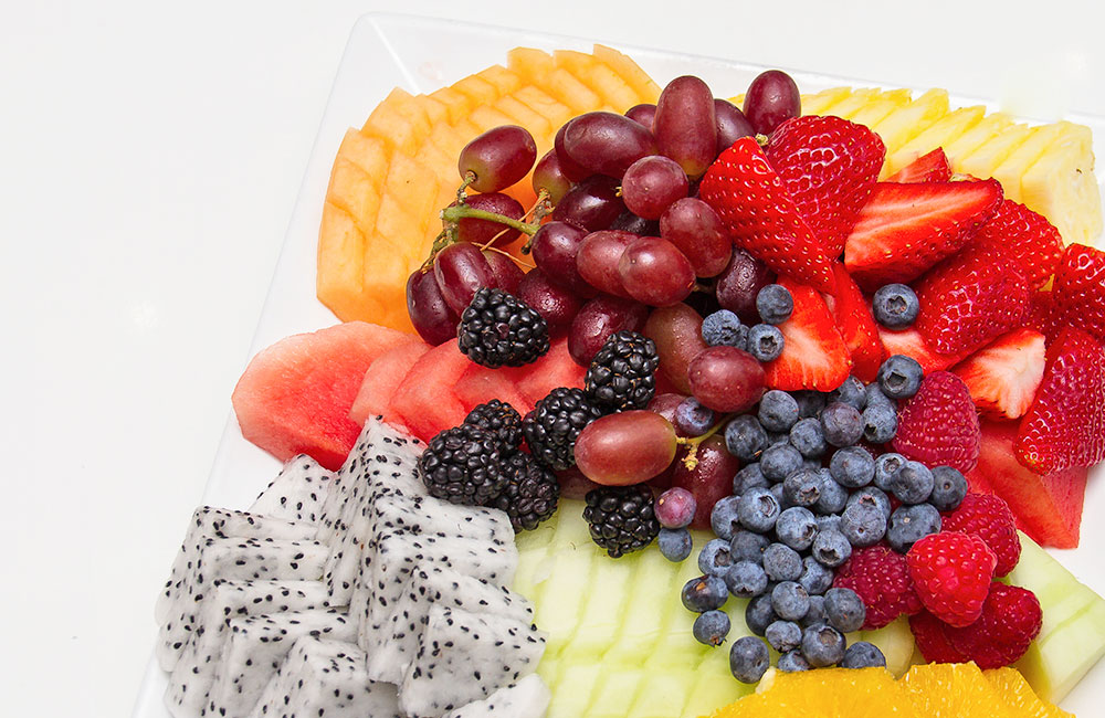 Traditional fruit platter from jewish shiva catering menu
