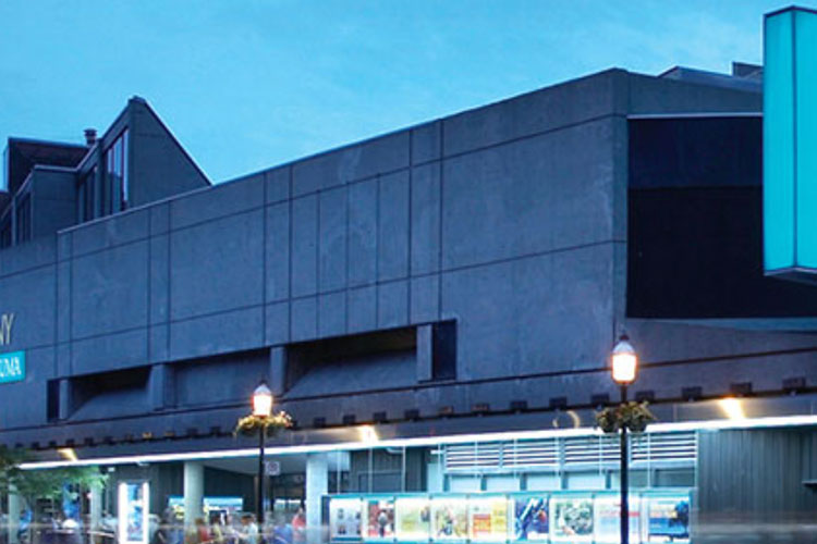 Cement exterior of St. Lawrence Centre venue rental space