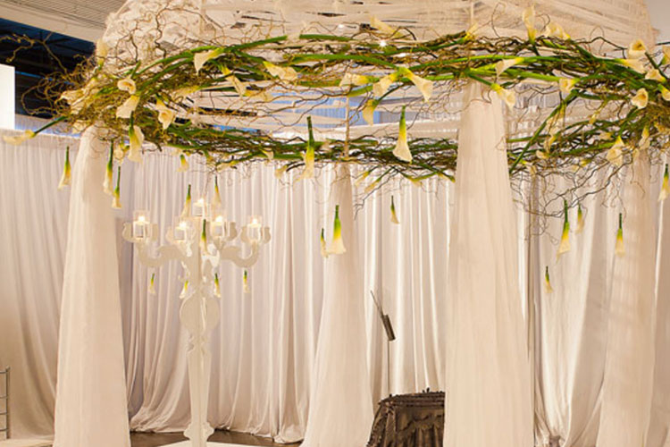 Chuppah setup at The Warehouse venue rental space for wedding