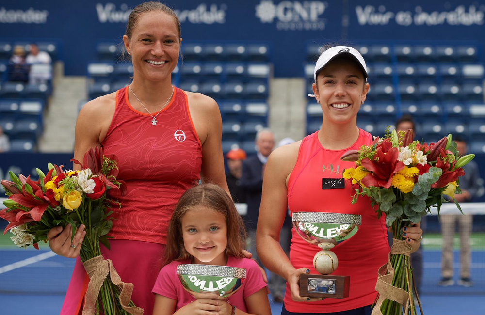 Sharon Fichman Holding Trophy After Tournament