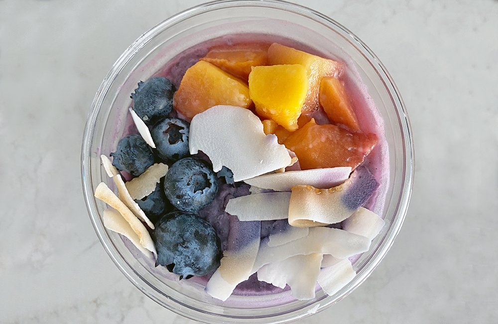 Tropical Berry Blast Chia Pudding Top View
