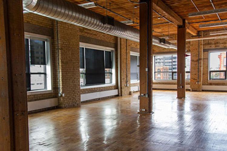Open concept area of Workhaus event venue rental space